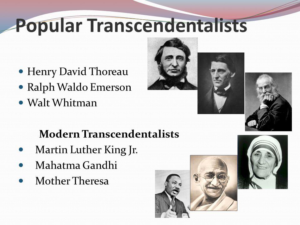 Popular Transcendentalists