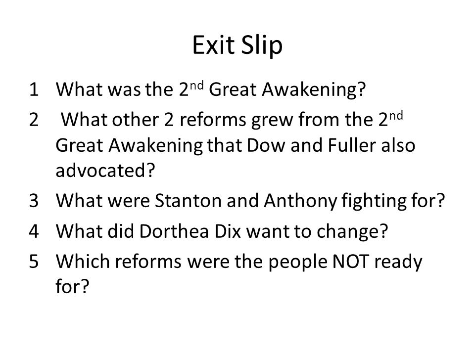 overview of the second great awakening essay The second great awakening was a time from 1800-1830's that grew out of a 1790's conservative minister's movement to revitalize the church the message of.