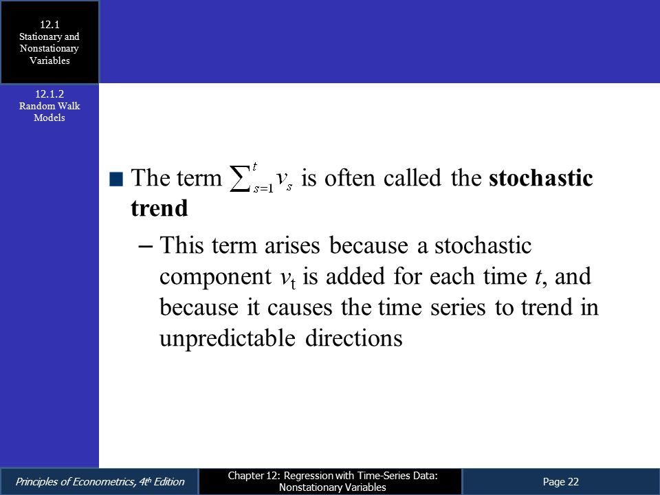 Stationary and Nonstationary Variables