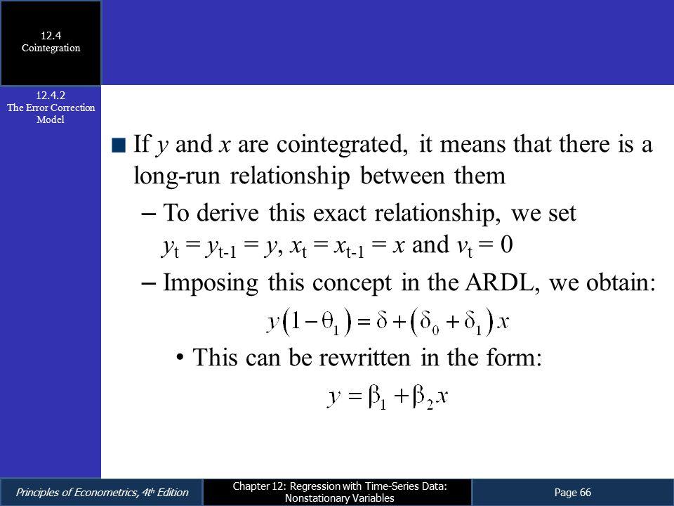 The Error Correction Model