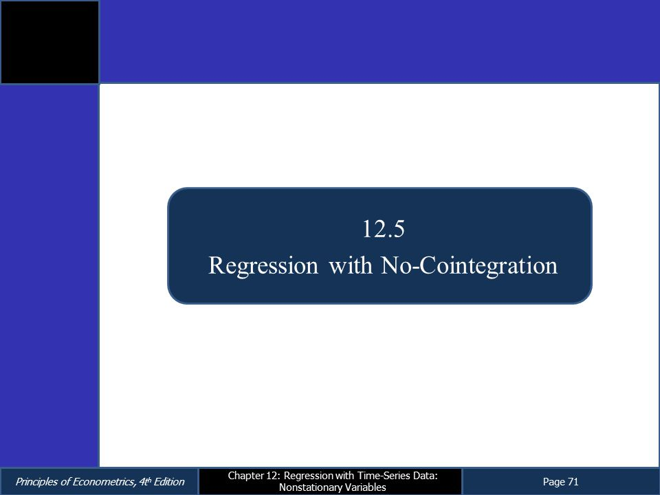 Regression with No-Cointegration