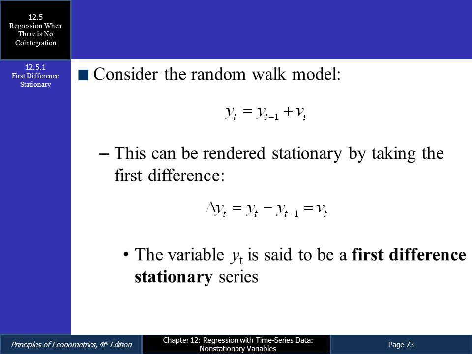 Consider the random walk model: