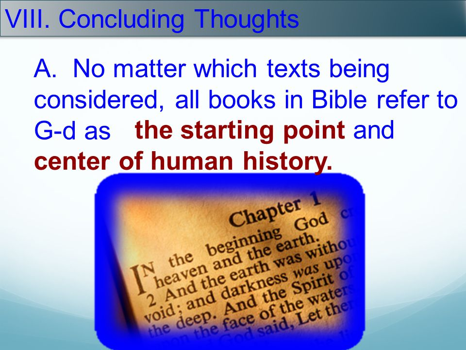 VIII. Concluding Thoughts
