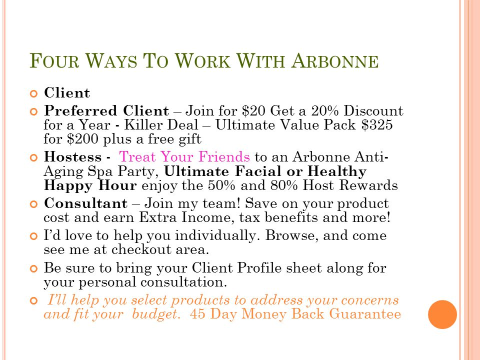 Four Ways To Work With Arbonne