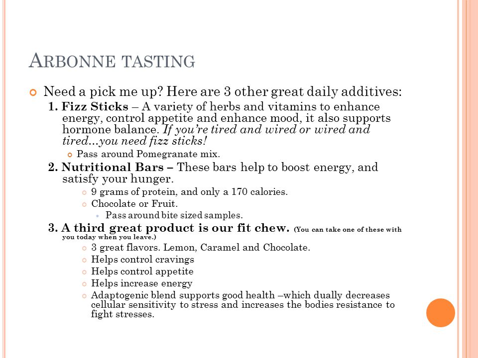 Arbonne tasting Need a pick me up Here are 3 other great daily additives: