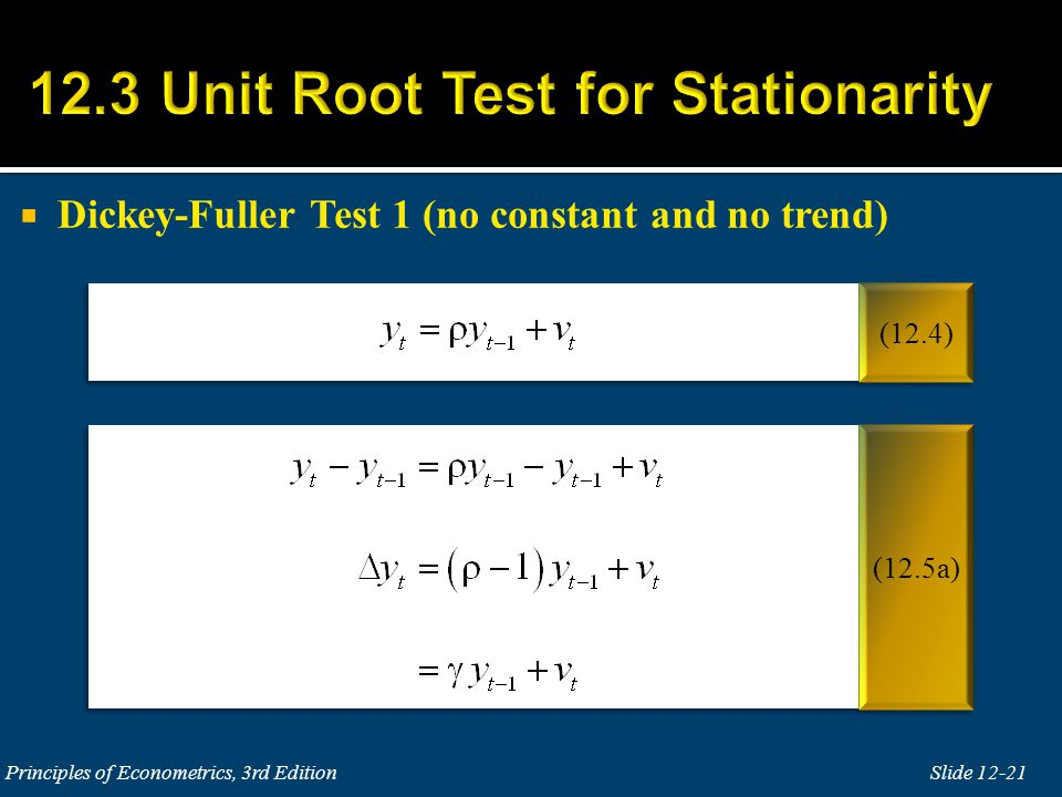 12.3 Unit Root Test for Stationarity