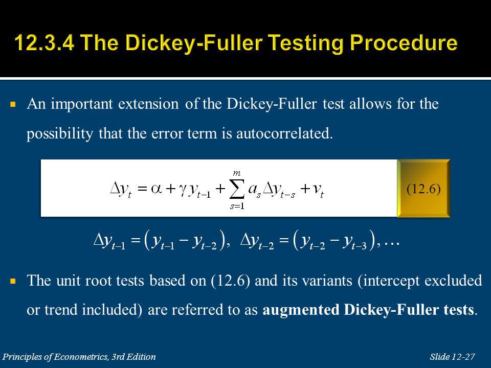 12.3.4 The Dickey-Fuller Testing Procedure
