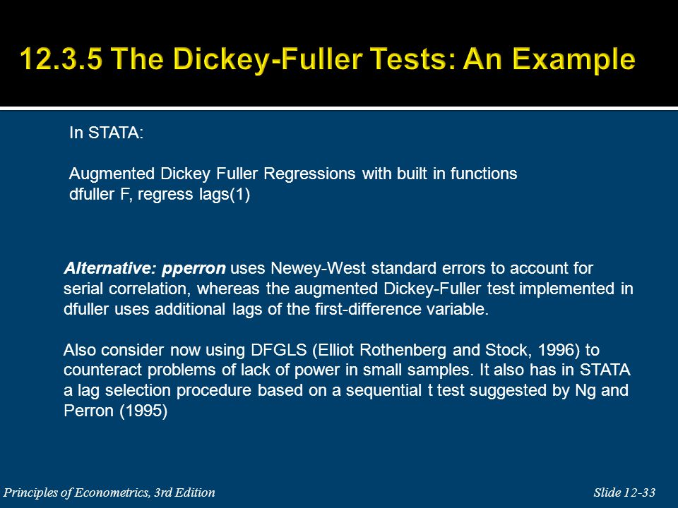 12.3.5 The Dickey-Fuller Tests: An Example