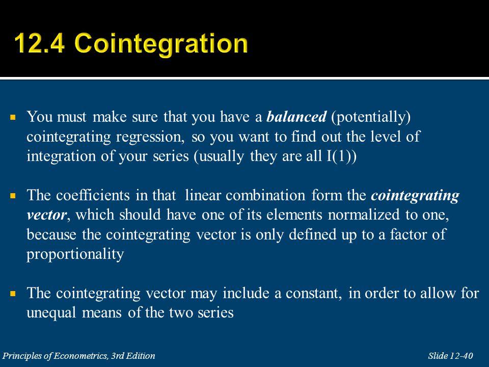12.4 Cointegration