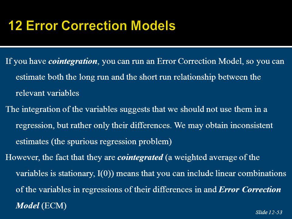 12 Error Correction Models