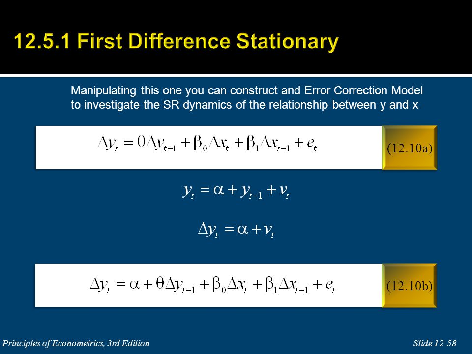 12.5.1 First Difference Stationary