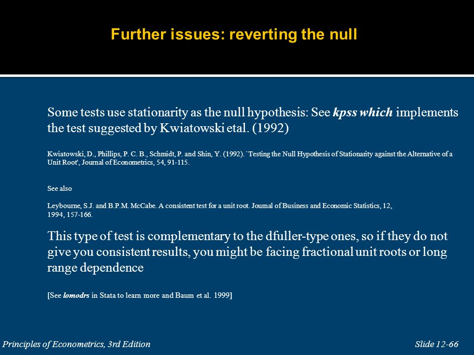 Further issues: reverting the null