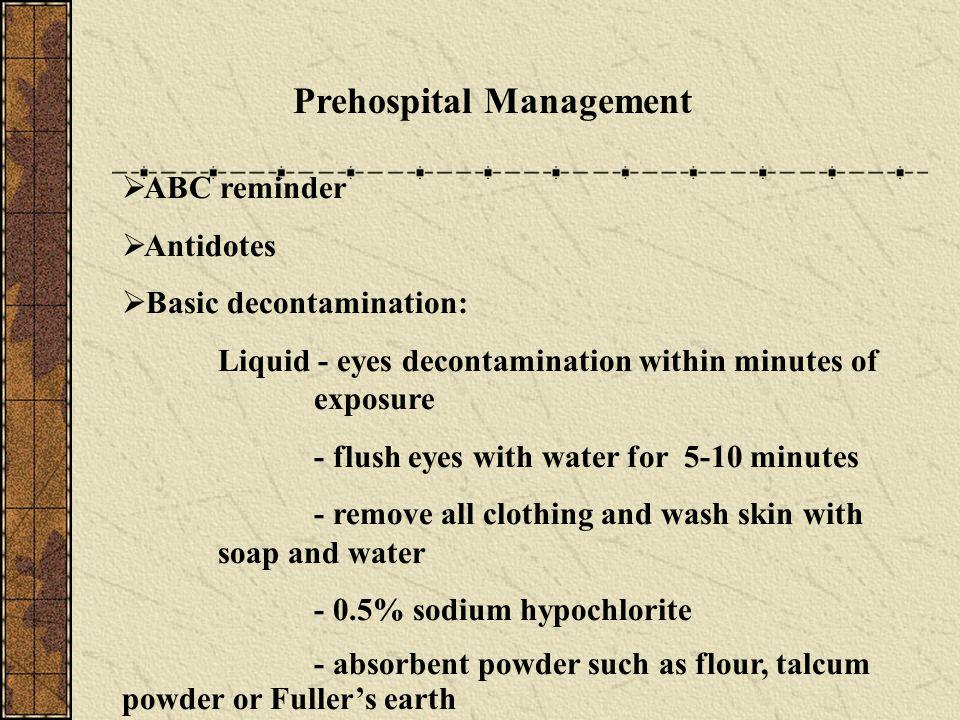 Prehospital Management