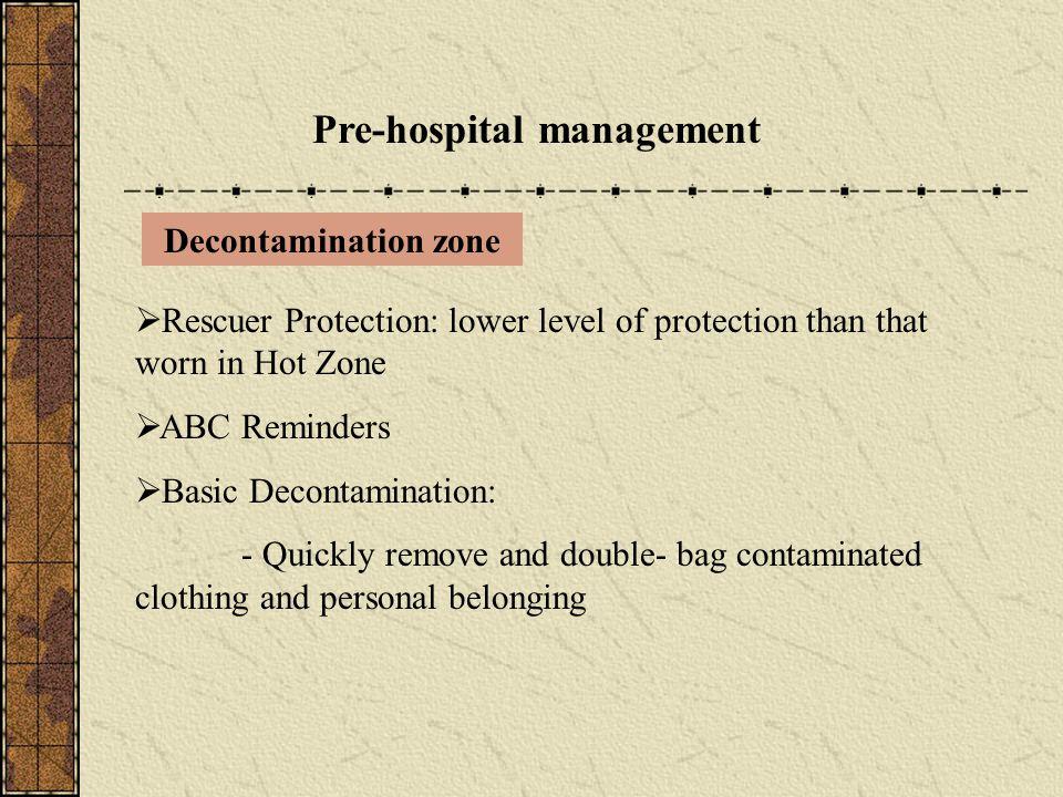 Pre-hospital management