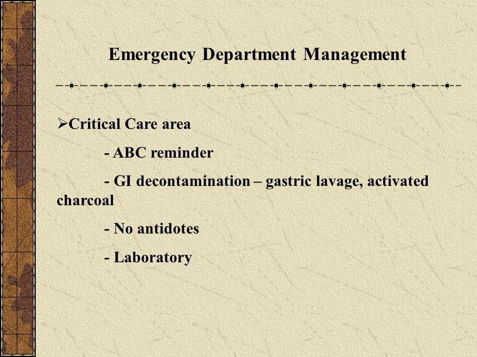 Emergency Department Management