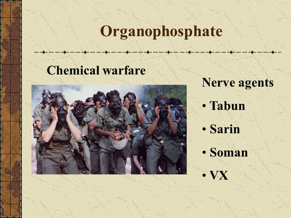 Organophosphate Chemical warfare Nerve agents Tabun Sarin Soman VX