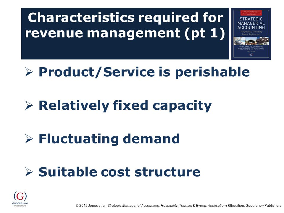 Characteristics required for revenue management (pt 1)