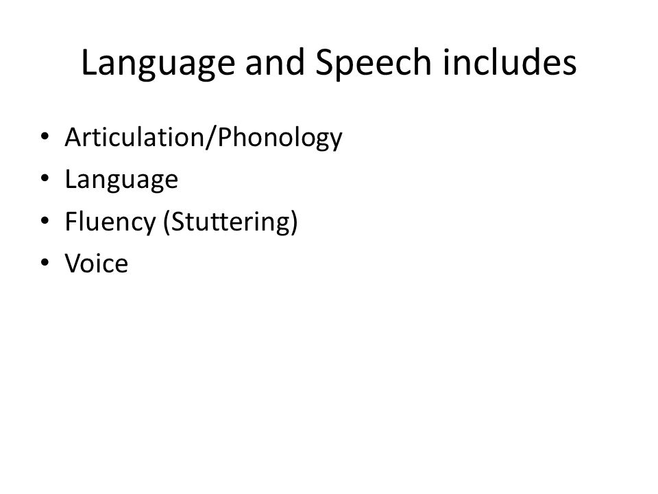 Language and Speech includes