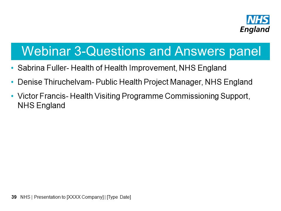 Webinar 3-Questions and Answers panel