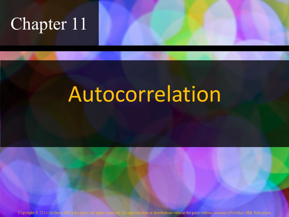 Chapter 11 Autocorrelation