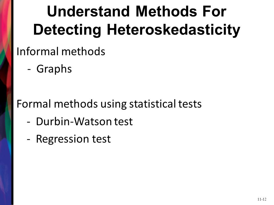 Understand Methods For Detecting Heteroskedasticity