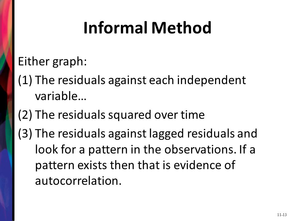 Informal Method Either graph: