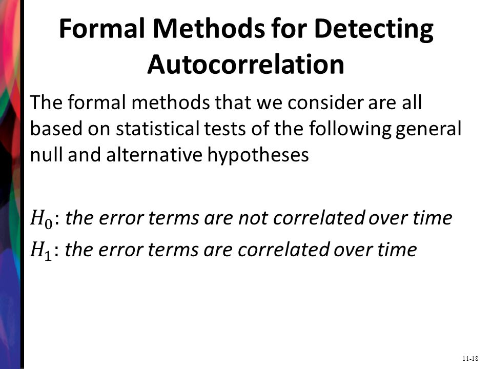 Formal Methods for Detecting Autocorrelation