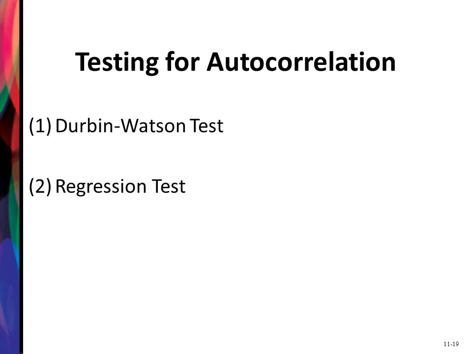 Testing for Autocorrelation