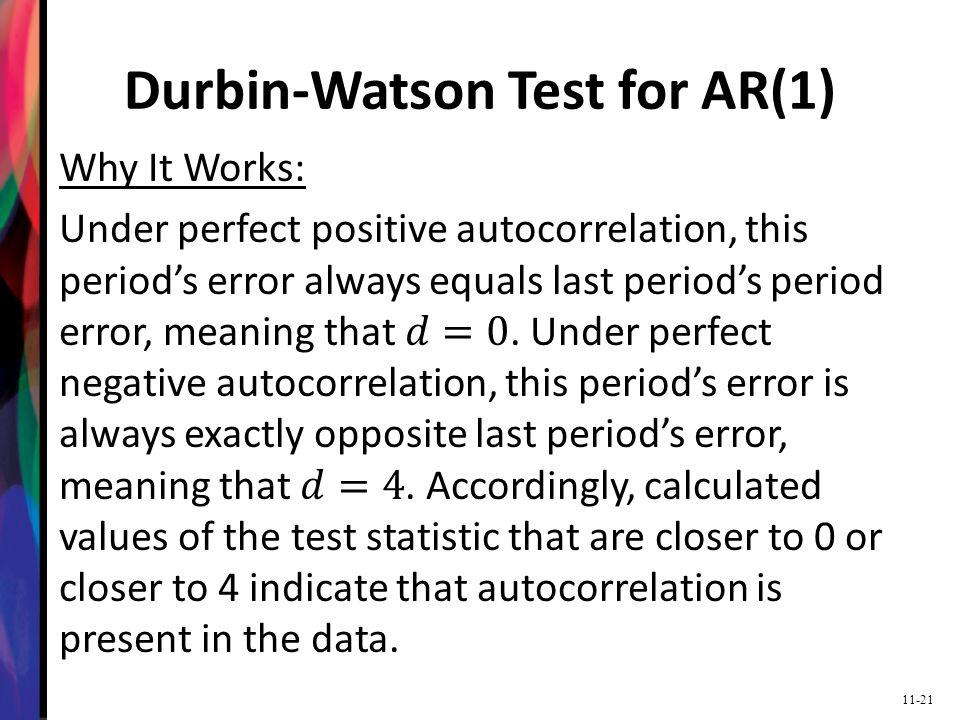 Durbin-Watson Test for AR(1)