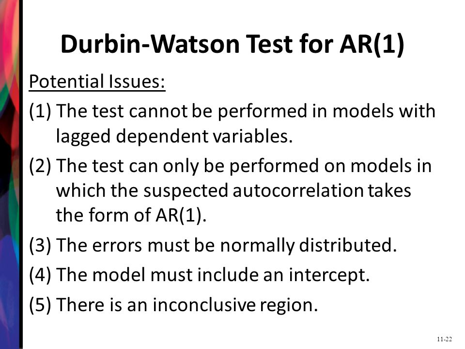 how to read a durbin watson test