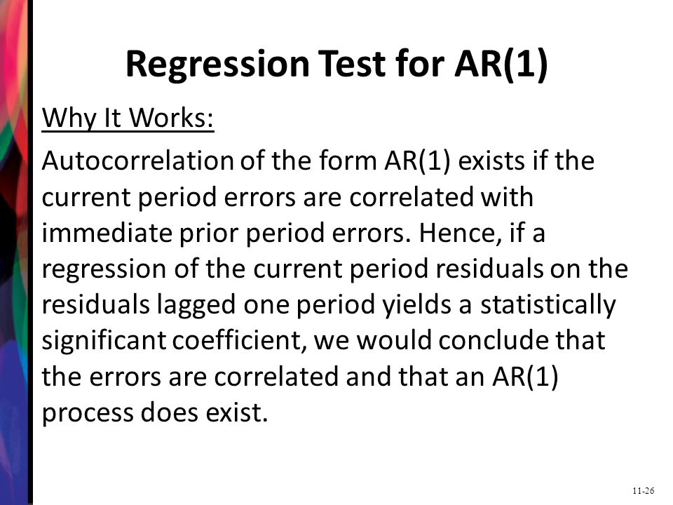 Regression Test for AR(1)