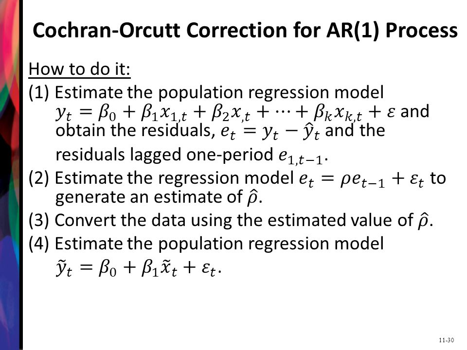 Cochran-Orcutt Correction for AR(1) Process