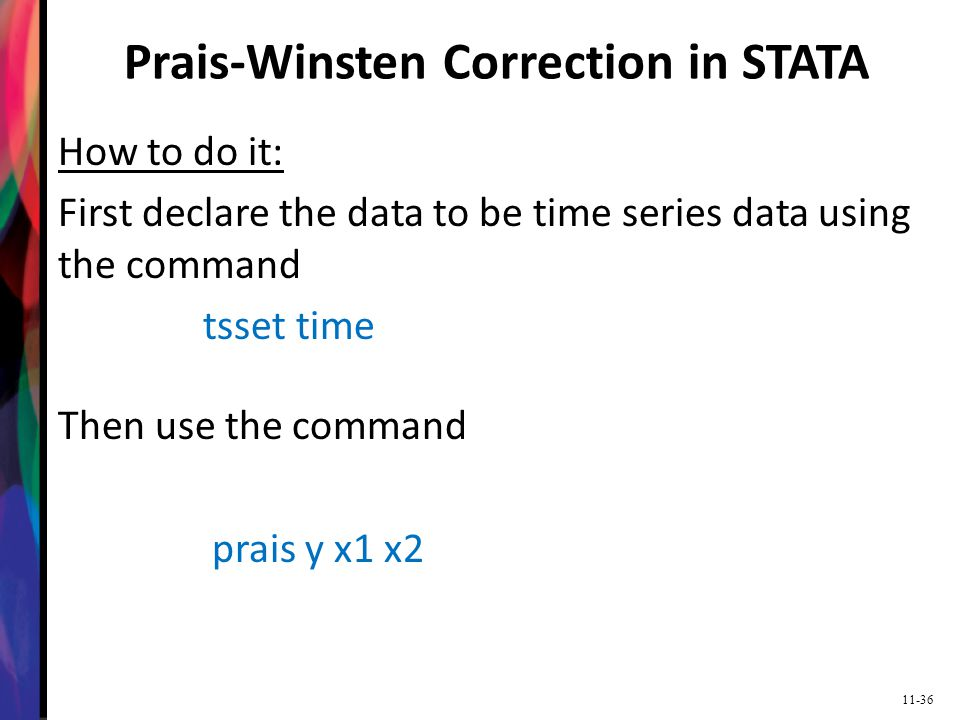 Prais-Winsten Correction in STATA