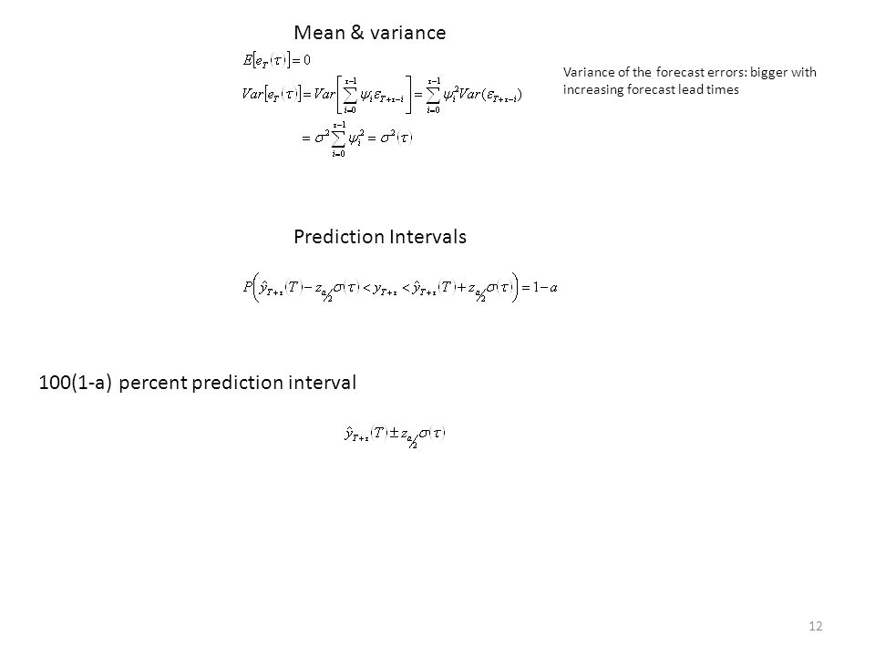100(1-a) percent prediction interval