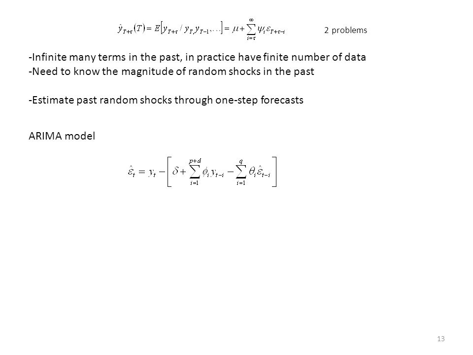 Need to know the magnitude of random shocks in the past