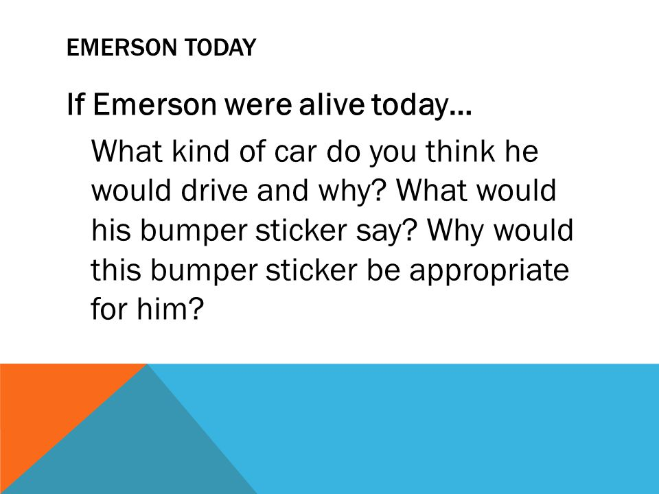 Emerson Today