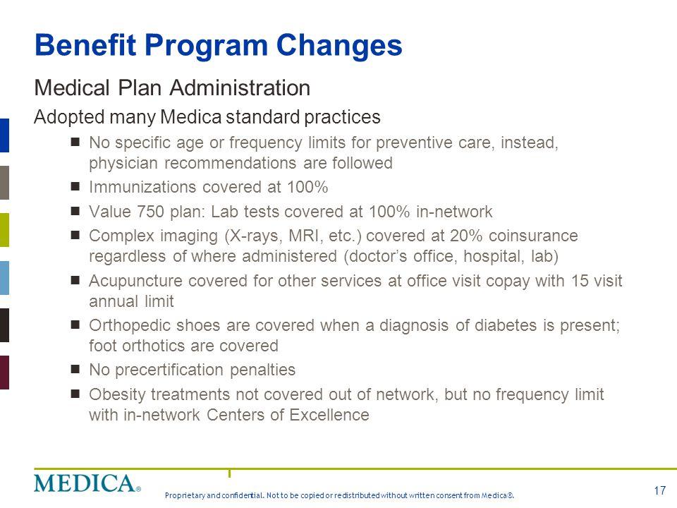 Benefit Program Changes