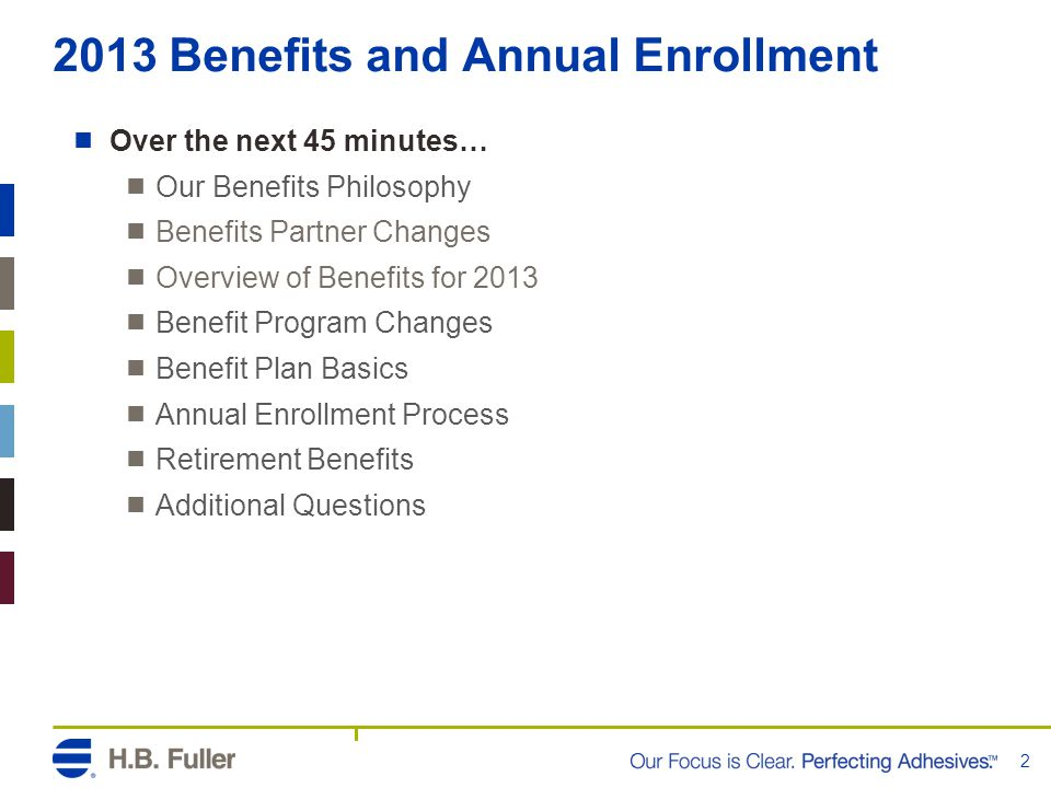 2013 Benefits and Annual Enrollment