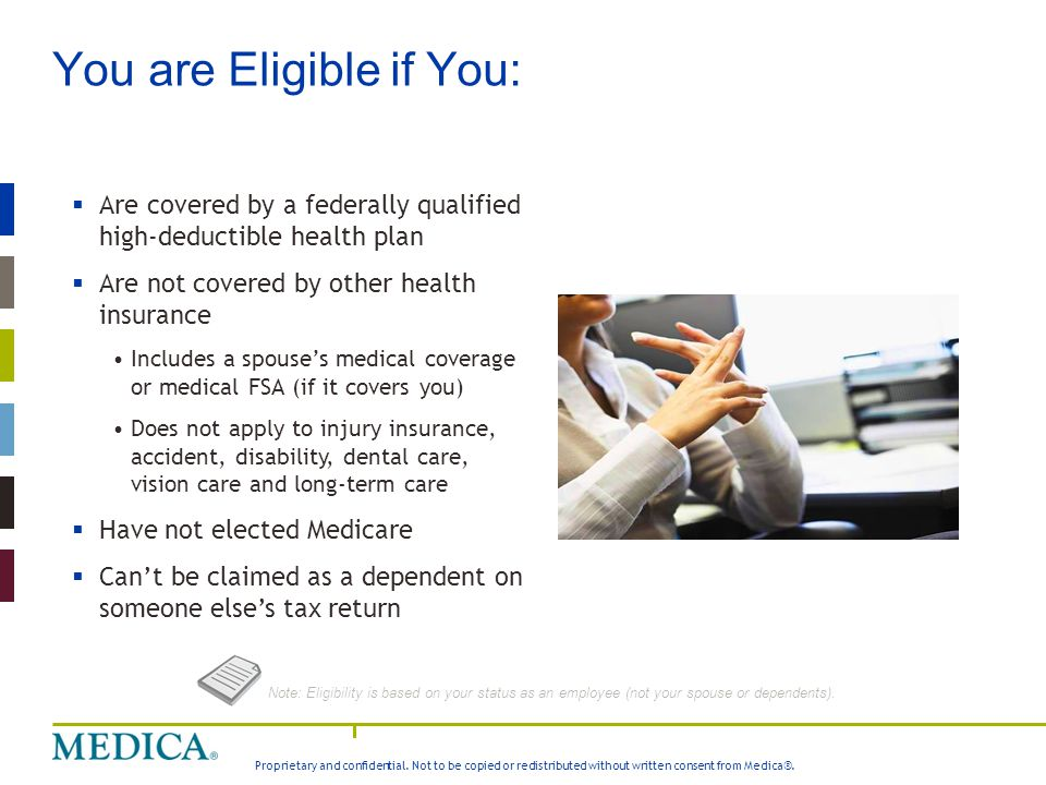 You are Eligible if You: