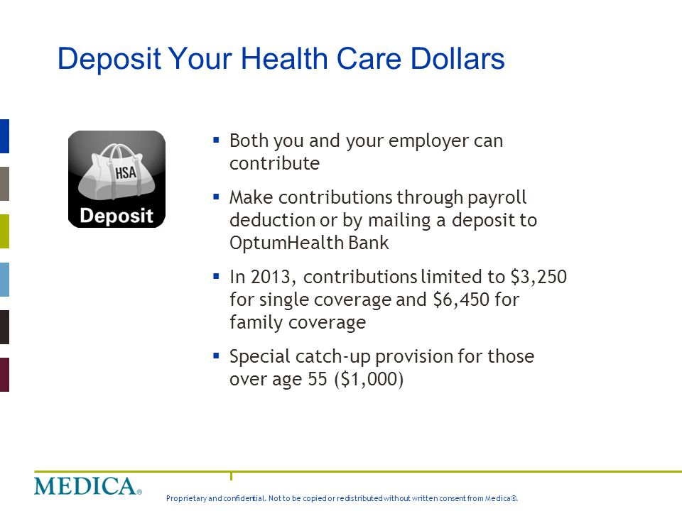 Deposit Your Health Care Dollars