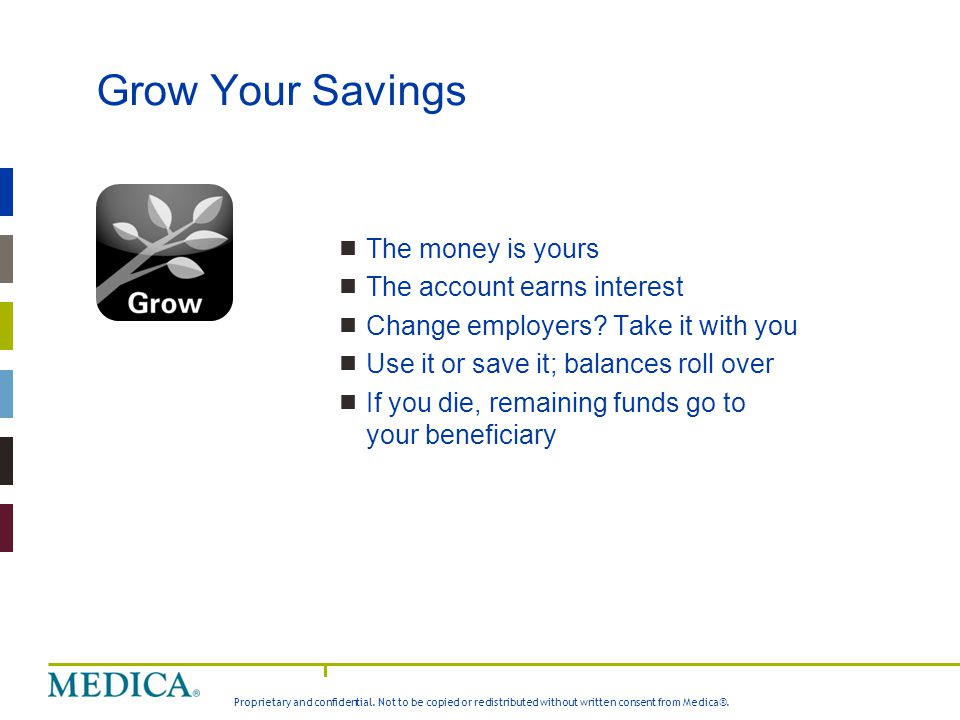 Grow Your Savings The money is yours The account earns interest