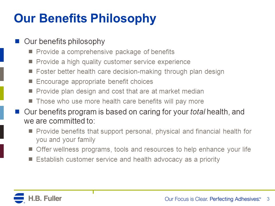 Our Benefits Philosophy