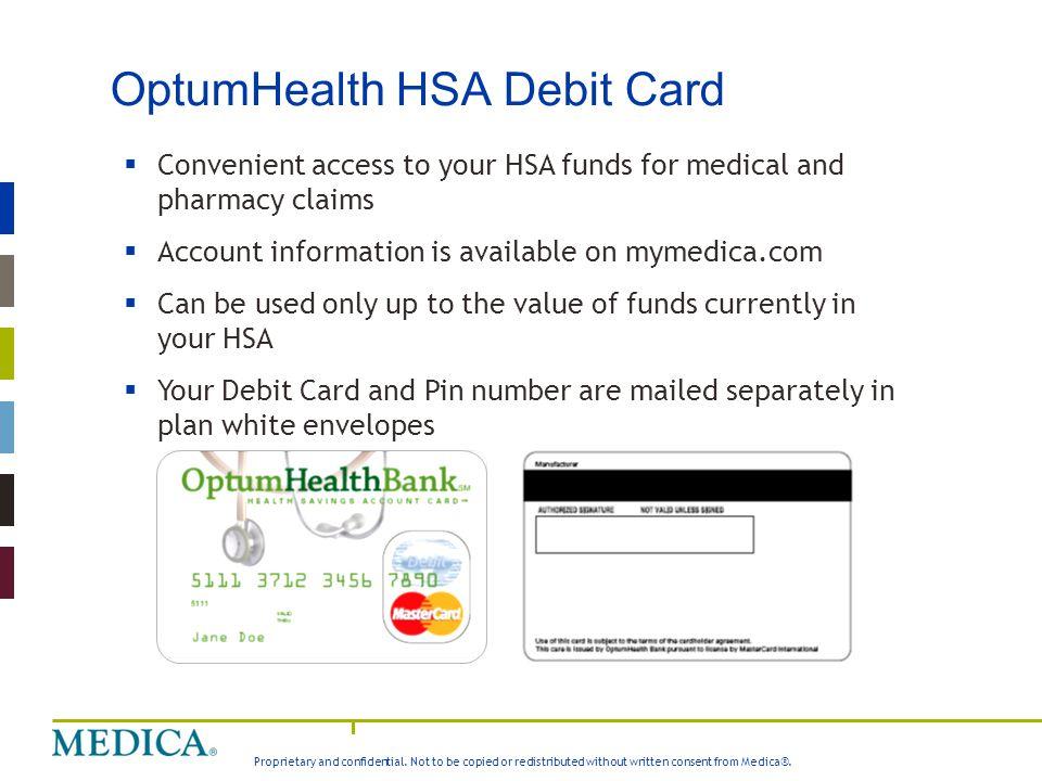 OptumHealth HSA Debit Card