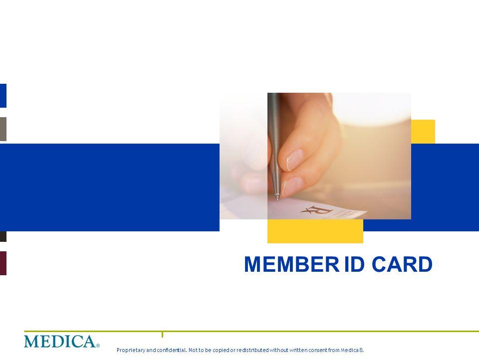 Medica Value Story MEMBER ID CARD