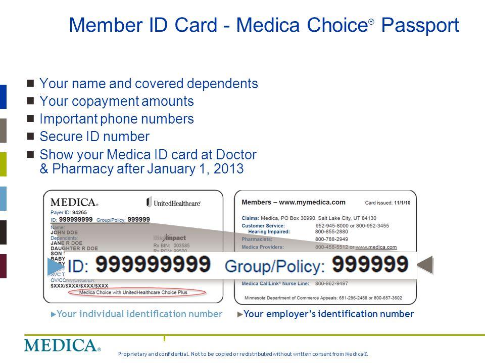 Member ID Card - Medica Choice® Passport