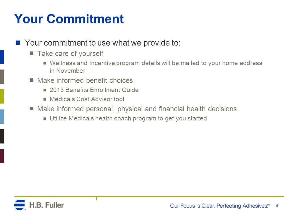 Your Commitment Your commitment to use what we provide to:
