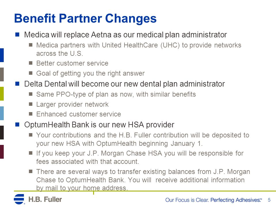 Benefit Partner Changes