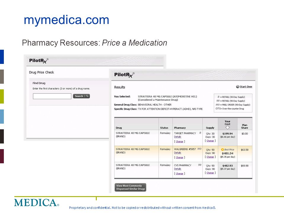 mymedica.com Pharmacy Resources: Price a Medication