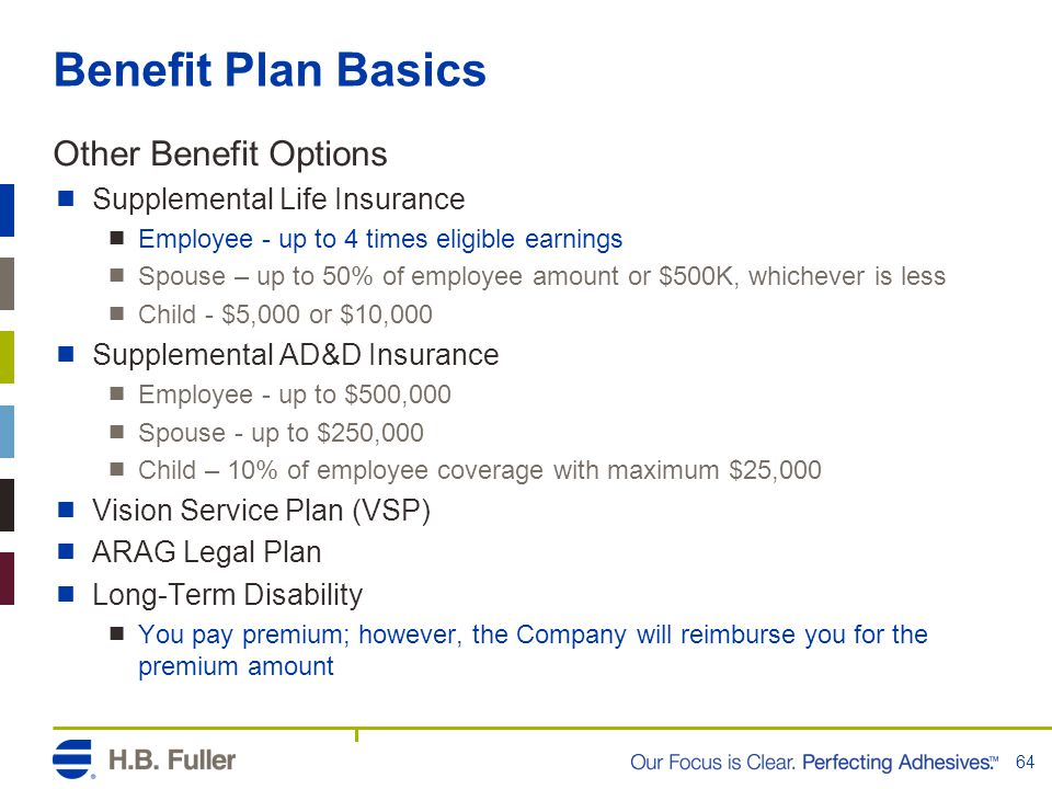 Benefit Plan Basics Other Benefit Options Supplemental Life Insurance