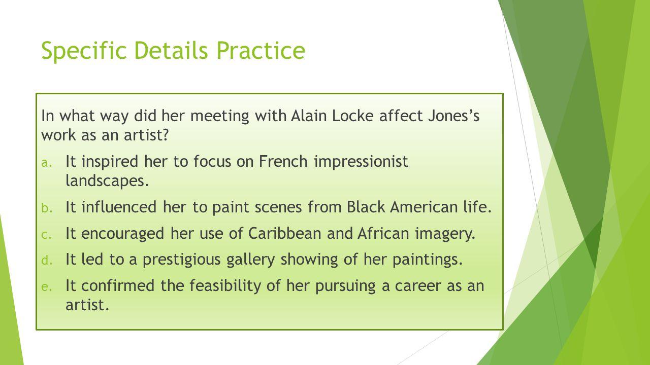 Specific Details Practice